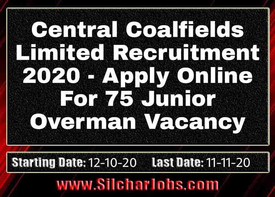 Central Coalfields Limited Recruitment 2020