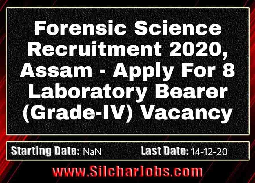 Forensic Science Recruitment 2020