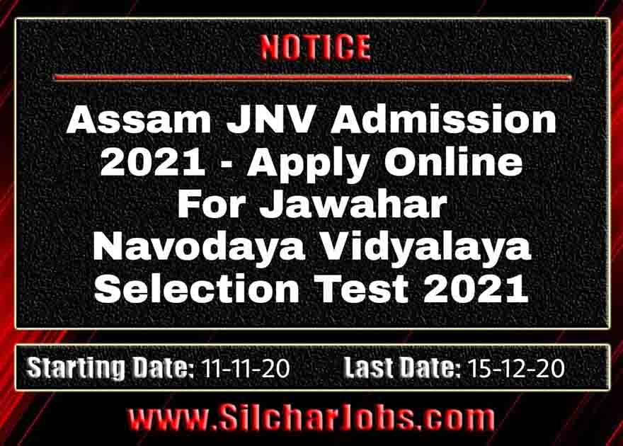 Assam JNV Admission 2021