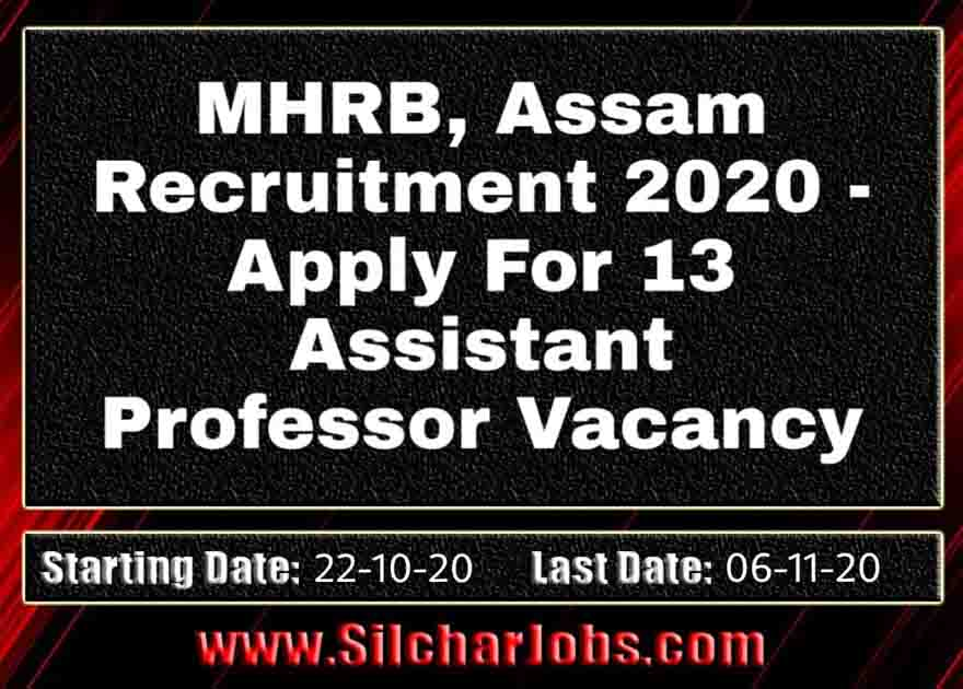 MHRB Assam Recruitment