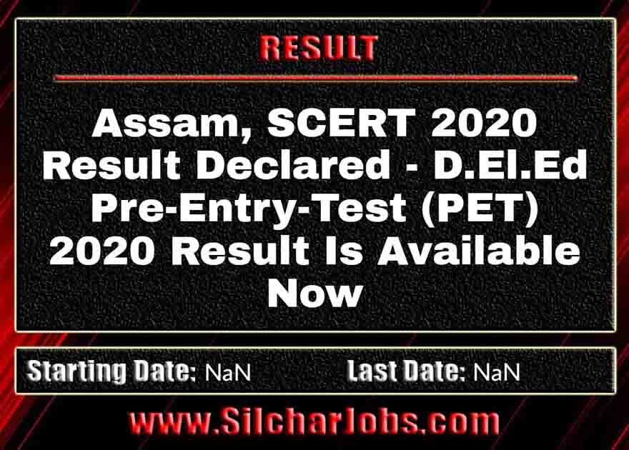 Assam SCERT 2020 Result