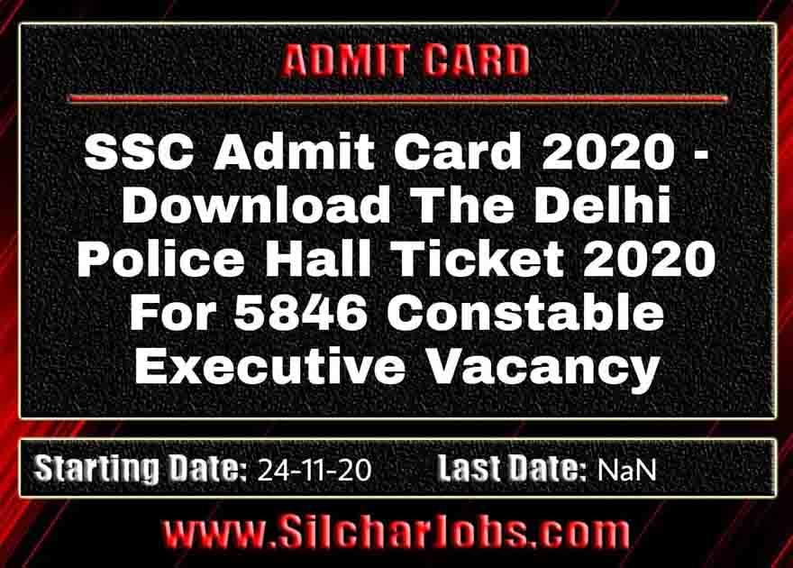 Delhi Police Hall Ticket 2020