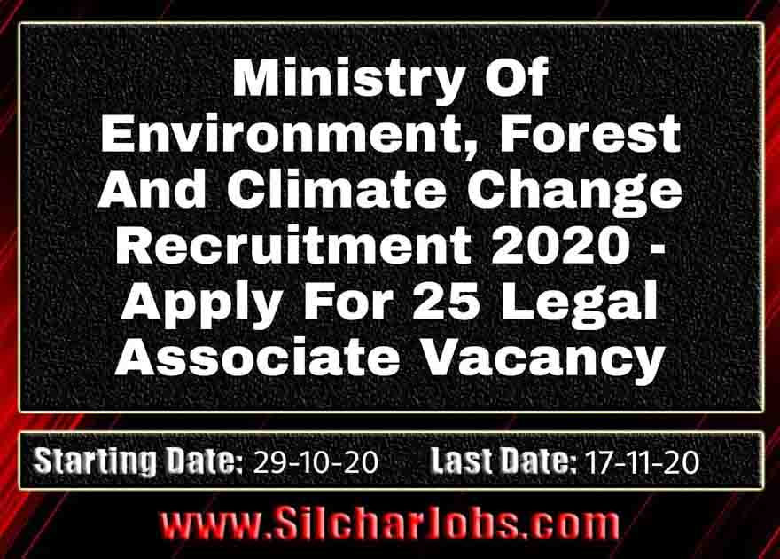 Ministry Of Environment Recruitment 2020