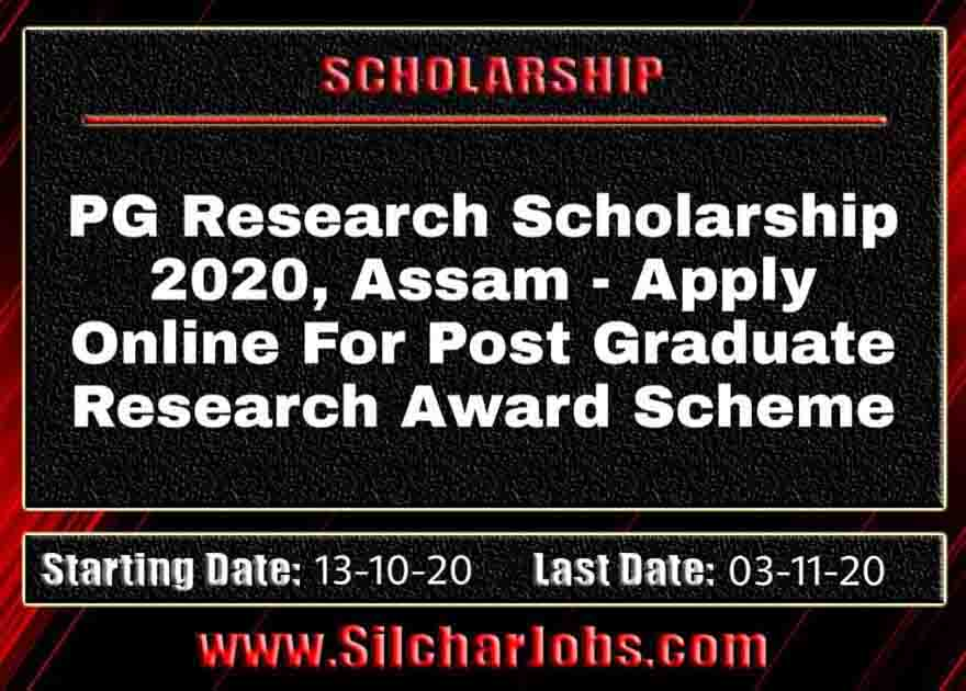 PG Research Scholarship 2020