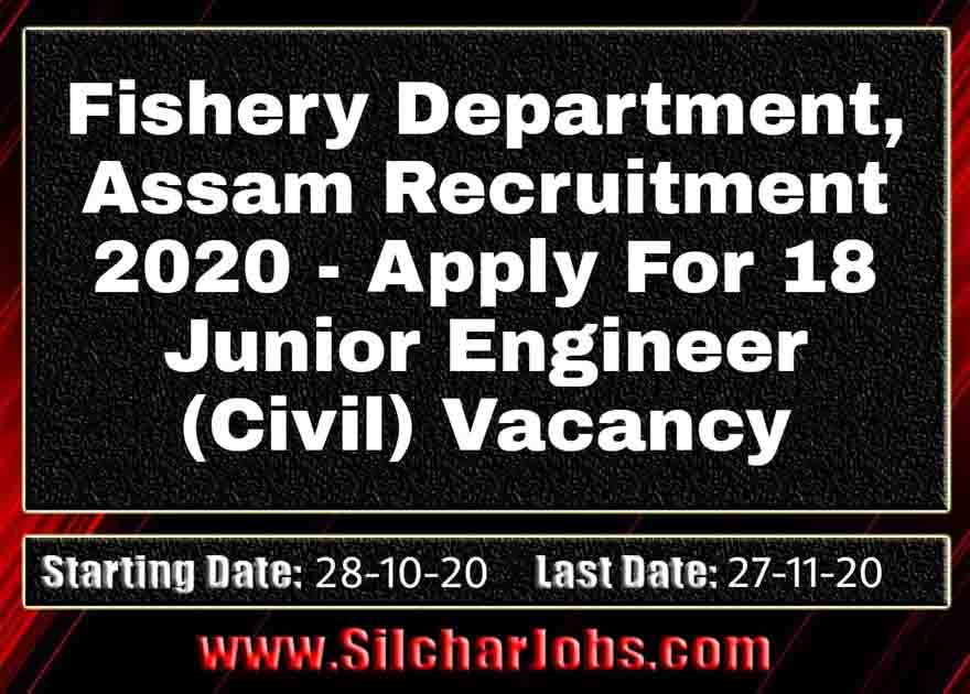 Fishery Department Recruitment 2020