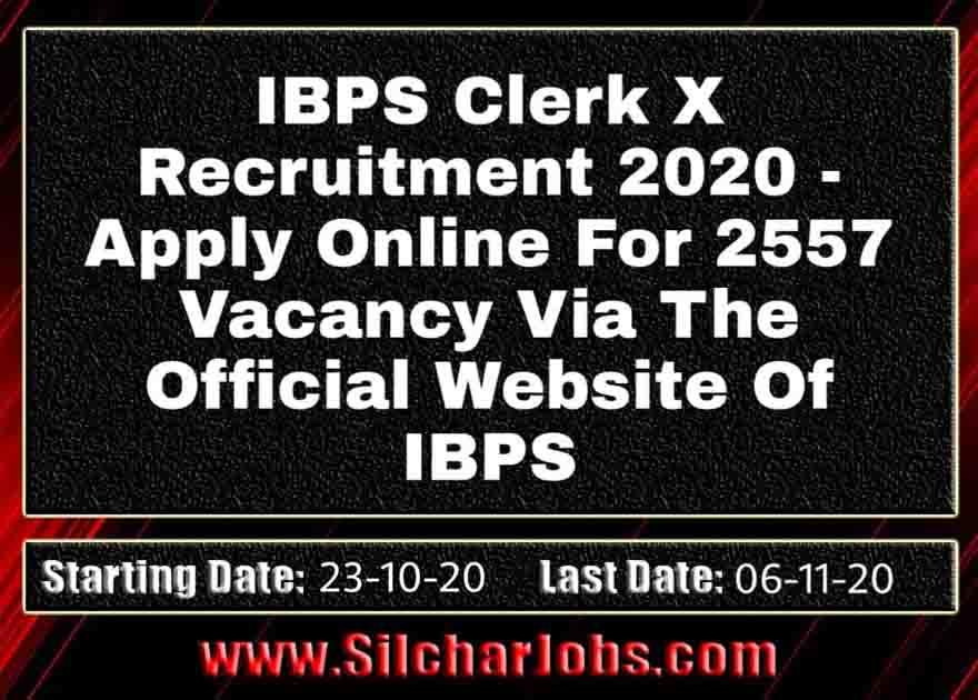 IBPS Clerk X Recruitment