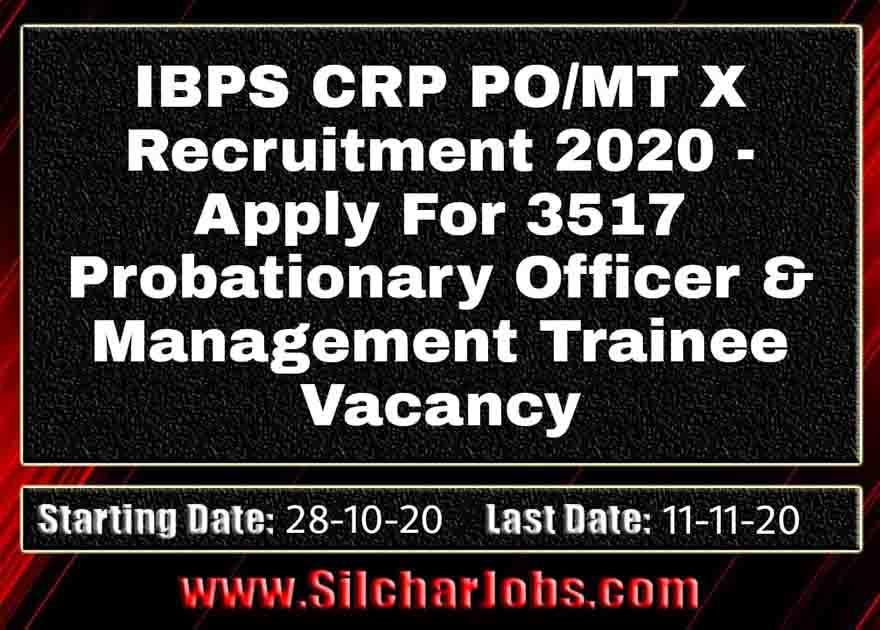 IBPS CRP PO/MT X Recruitment 2020