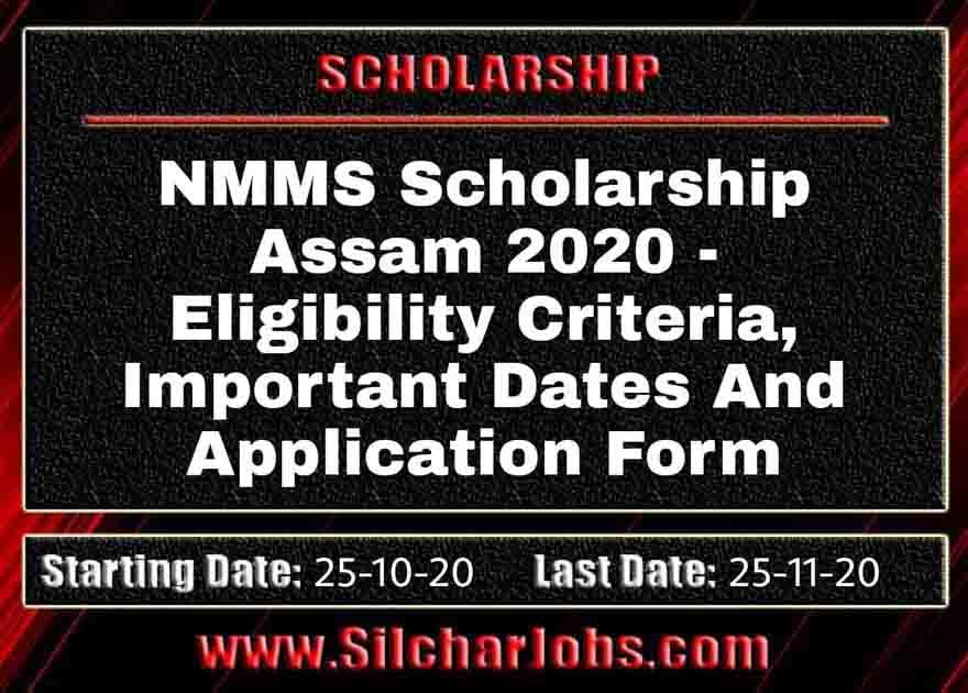 NMMS Scholarship Assam 2020