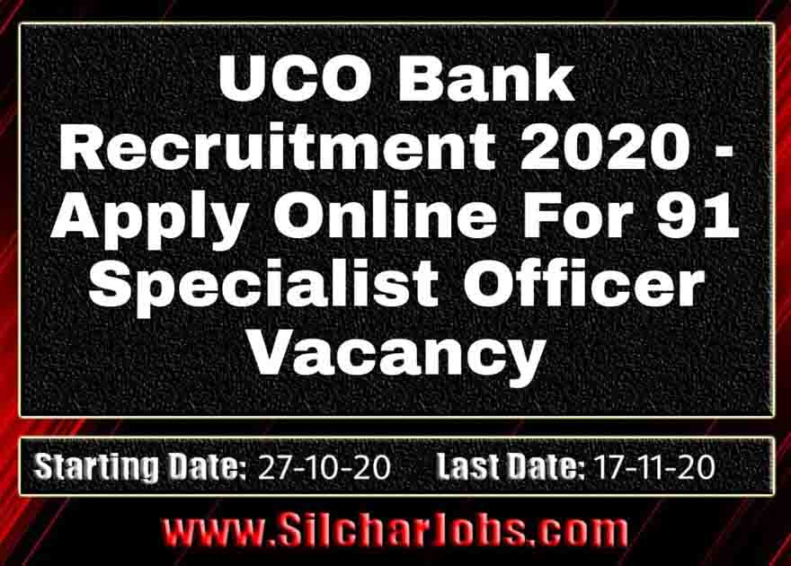 UCO Bank Recruitment 2020
