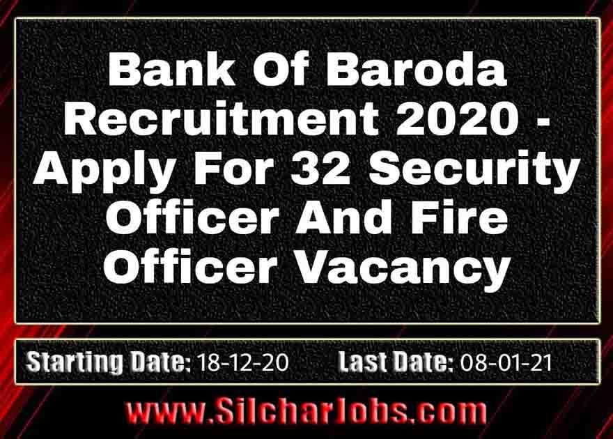 Bank Of Baroda Recruitment 2020