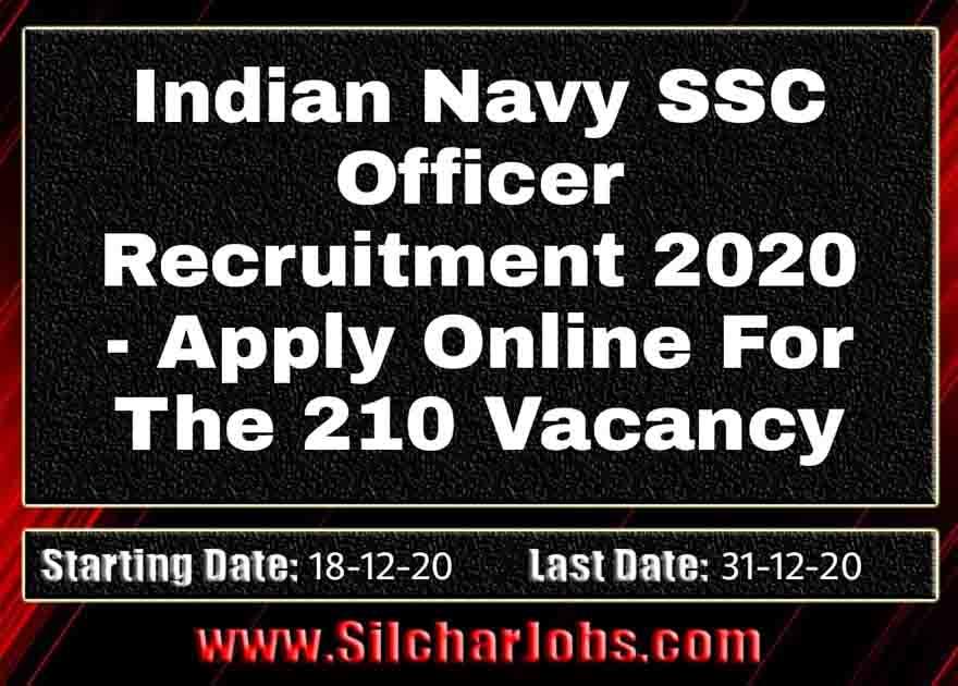 Indian Navy SSC Officer Recruitment 2020