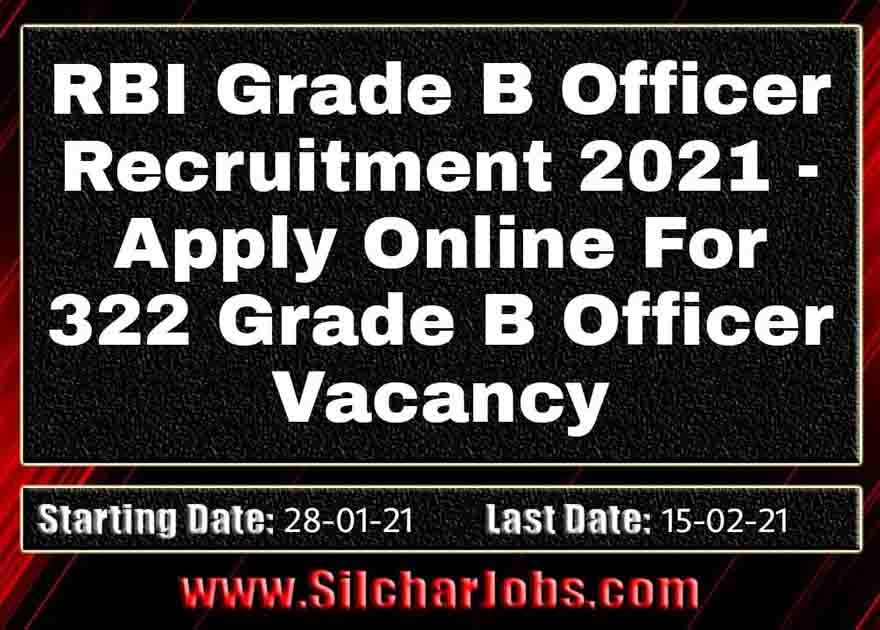 RBI Grade B Officer Recruitment 2021