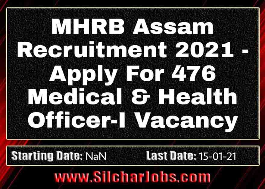 MHRB Assam Recruitment 2021