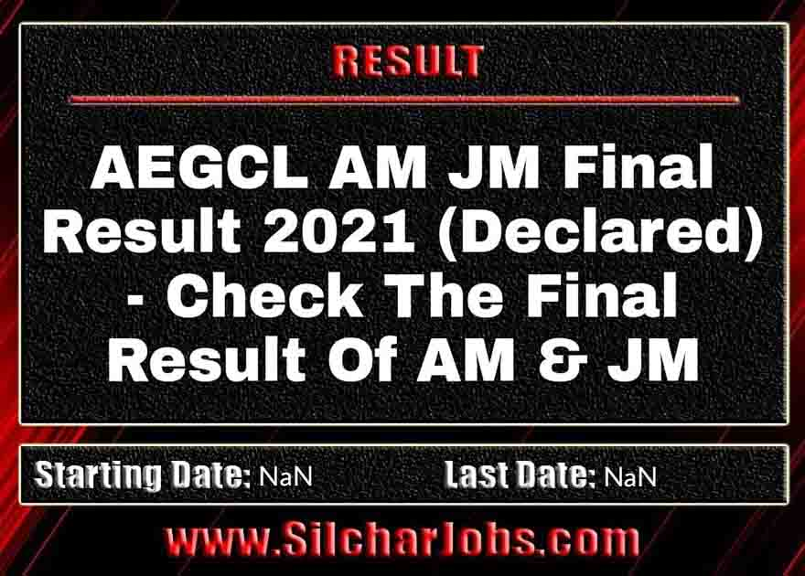 AEGCL AM JM Final Result 2021