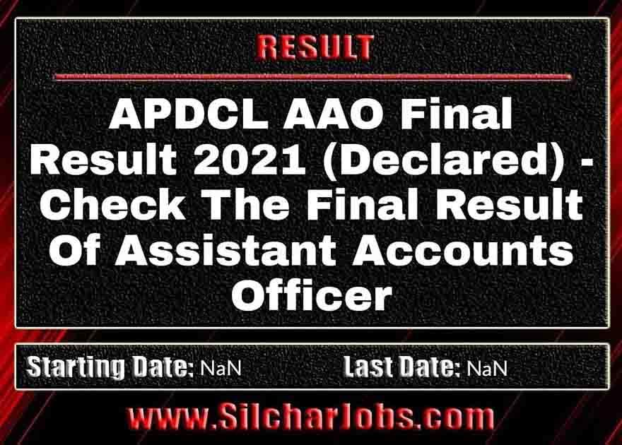APDCL AAO Final Result 2021