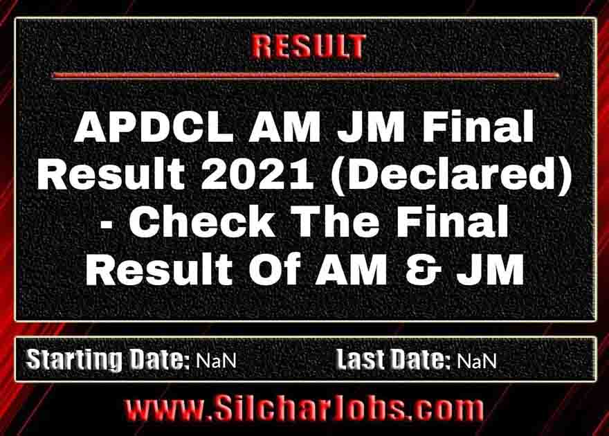 APDCL AM JM Final Result 2021