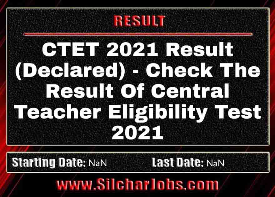 CTET 2021 Result