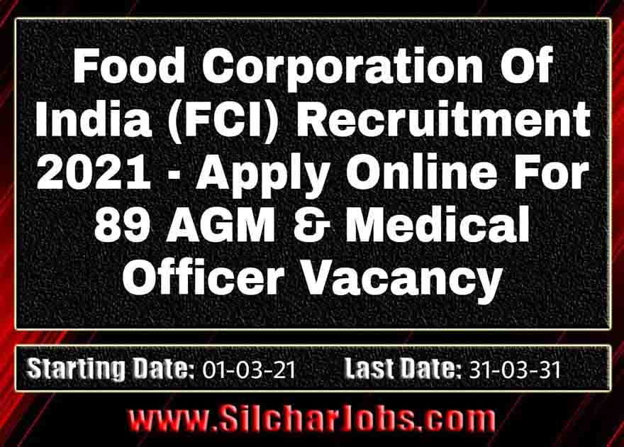 Food Corporation of India Recruitment 2021