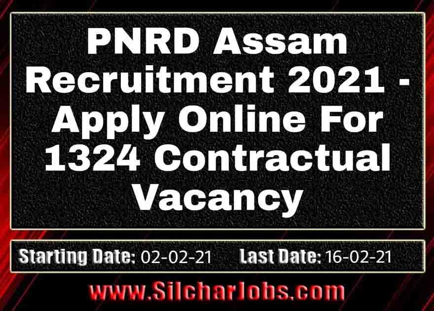 PNRD Assam Recruitment 2021