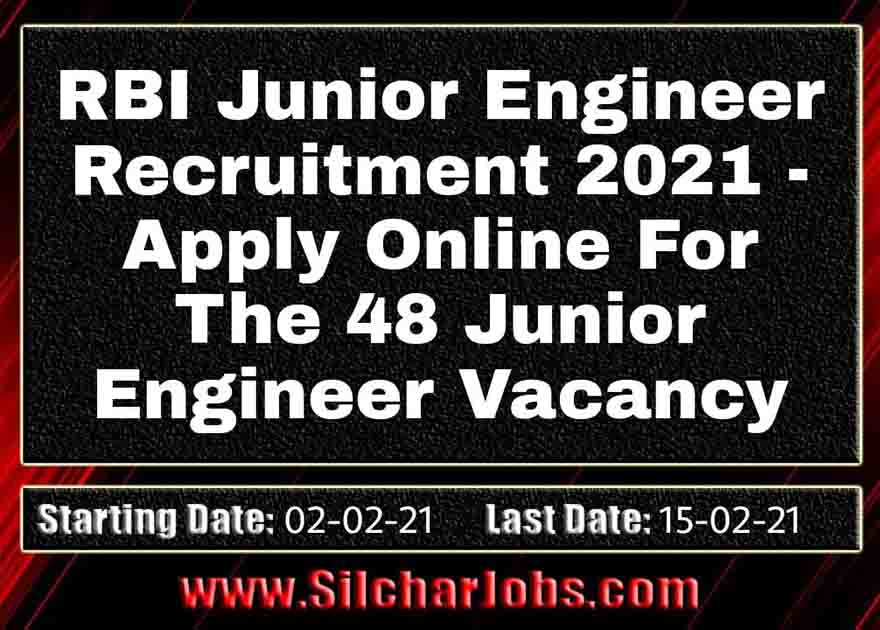 RBI Junior Engineer Recruitment 2021