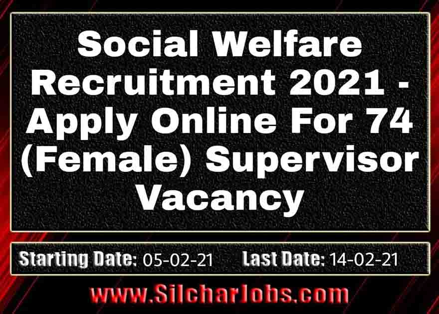 Social Welfare Assam Recruitment 2021