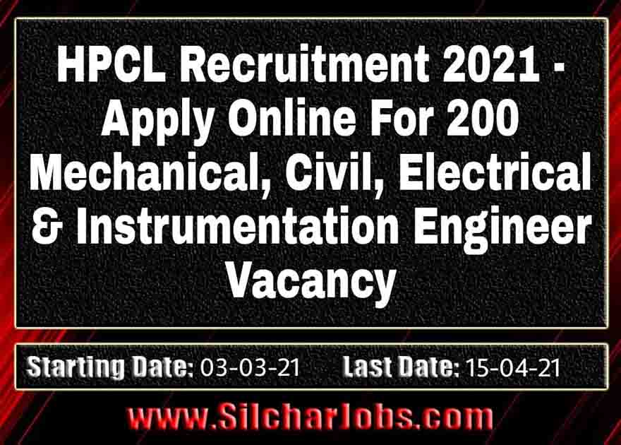 HPCL Recruitment 2021 200 Vacancy