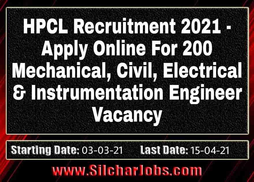 HPCL Recruitment 2021 200 Vacancy