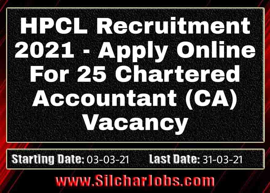 HPCL Recruitment 2021 25 Vacancy