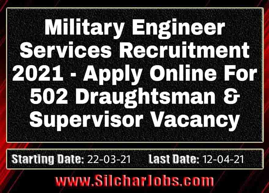 Military Engineer Services Recruitment 2021 502 Vacancy