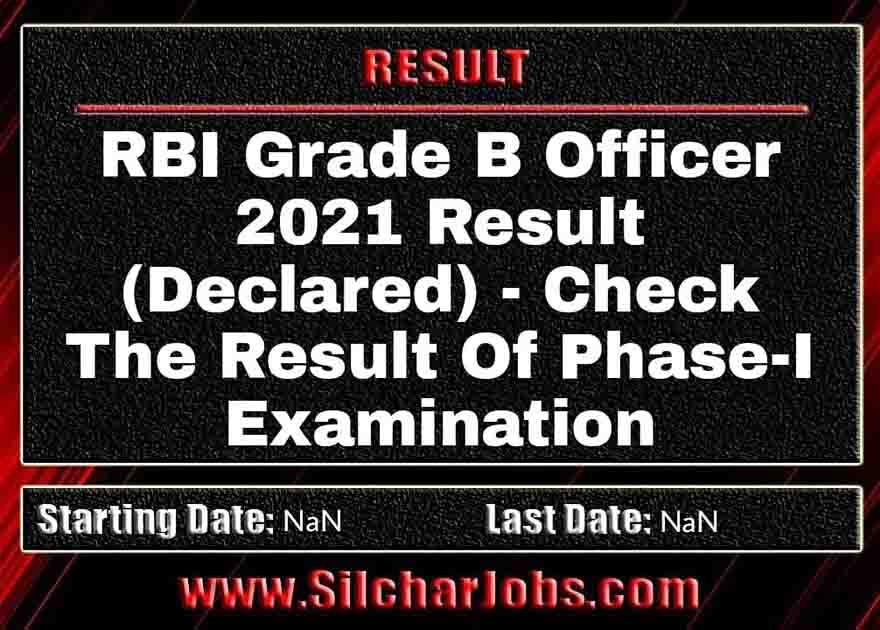 RBI Grade B Officer 2021 Result (Declared)