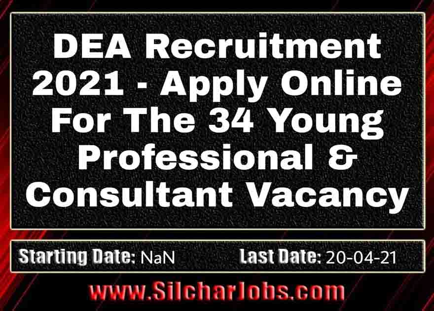 DEA Recruitment 2021