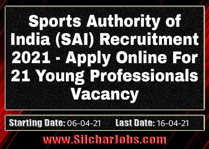 SAI Recruitment 2021