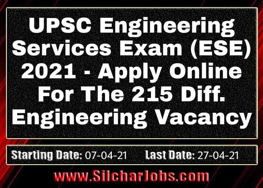 UPSC Engineering Services Examination 2021